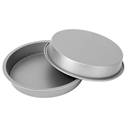 """G & S Metal Products Company OvenStuff Nonstick Round Cake Baking Pan 2 Piece Set, 9"""", Gray"""