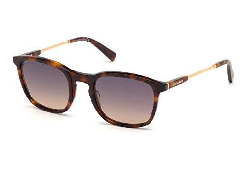 DSQUARED2 Gafas de sol DQ0326 GEFFEN 52B la habana humo tamaño de 53 mm de gafas de sol hombre