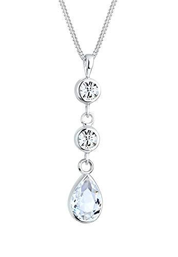 Elli Halskette Tropfen Swarovski® Kristalle 925 Sterling Silber