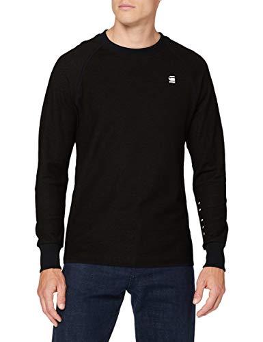 G-STAR RAW Jirgi Tape Detail T-Shirt, Dk Nero/Corvo 8633-8039, XX-Small Uomo