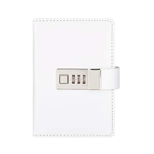Composition - Cuaderno de cuero portátil de negocios con programación de negocios Este plan de eficiencia manual de gestión Notebook Office Notebook (color: blanco)