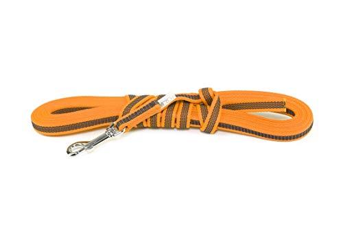 Julius-K9, 218GM-OR-5, Color & Gray Correa de Perro sin Asa, 14 mm x 5 m, Naranja-Gris