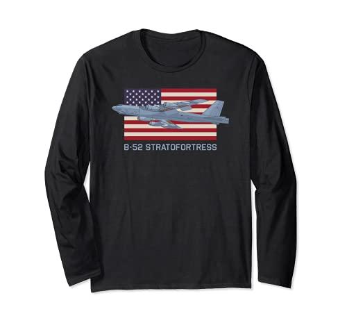 B-52 Stratofortress Bomberflugzeug Diagramm Amerikanische Langarmshirt