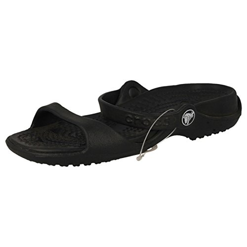 Crocs Women's Cleo Black/Black Croslite Sandals - 7 B(M) US