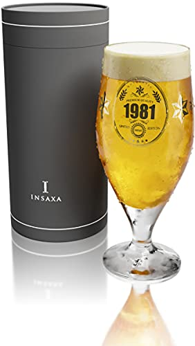 40th Birthday Gifts for Men - Limited Edition 1981 Premium Quality Beer Glass (1 Pint / 580ml)
