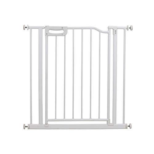 Safety 1st Pratique Porte de Sécurité Porte en Métal Porte D'escalier avec Opération à Une Main Idéal pour des Gamins Et Animaux Domestiques, Blanc pour Chiens, Escaliers Porte de Sécurité