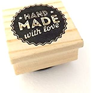 East of India 'Hand Made With Love' Wodden Rubber Stamp - Craft:Kisaran