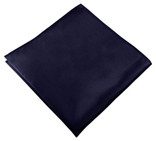 Helido Einstecktuch für Herren, 30 x 30 cm, Stoff-Taschentuch passend zu Anzug/Sakko – als Ergänzung zum Tuch eignen sich Fliege oder Krawatte (Dunkelblau)