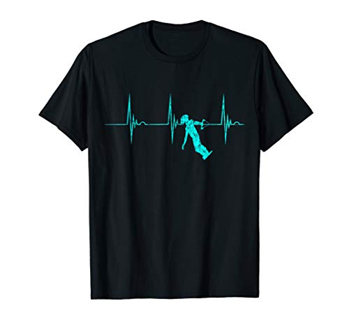 Wakeboarder Herzschlag EKG Puls Wakeboarden Wakeboard Skier T-Shirt