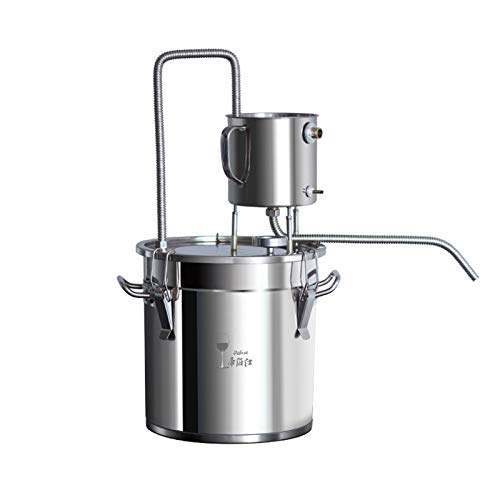 JIEWEI Moonshine Still 110v Stainless Steel Alcohol Distiller Home Brewing Kit Spirits Distiller With Thermonmeter Distilling Equipment For Diy Whiskey Brandy (3Gal/12L)
