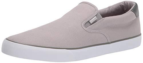 Lugz Men's Clipper Classic Slip-on Fashion Sneaker, Alloy/Charcoal/White, 11