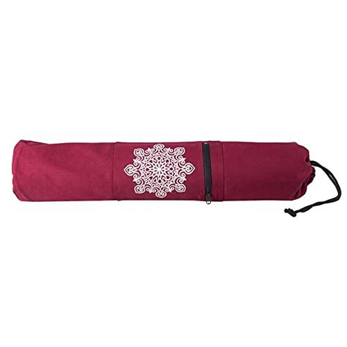 Esterilla de yoga de lona con cremallera bolsa de hombro durable bolsa de deporte gimnasio