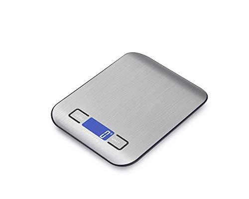 Báscula Digital para Cocina de con Pantalla LCD Balanza de Alimentos, con función de tara,alta precisión escala digital -3kg/1g