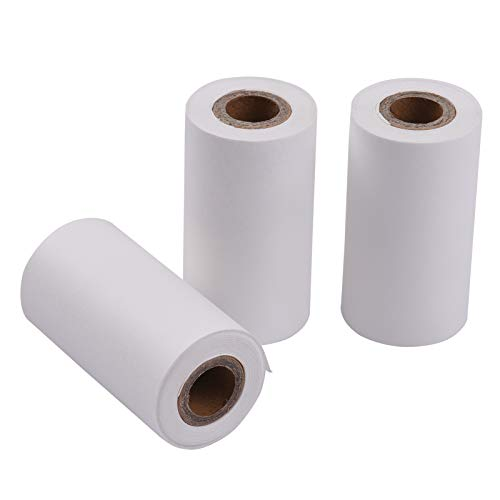 Docooler PAPERANG 3 Rollos 57x30 mm Rollo de Papel térmico Autoadhesivo Papel Adhesivo Blanco sin BPA de Larga duración 5 años para Impresora térmica de Bolsillo PAPERANG P1 (S) / P2 (S)