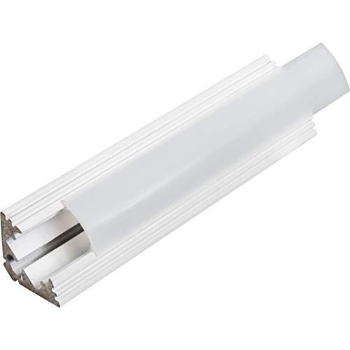 KIT de 6 x 1 mètre P3 Profilé en aluminium BLANC pour les bandes LED avec couvercles satinés, bouchons et clips de fixation