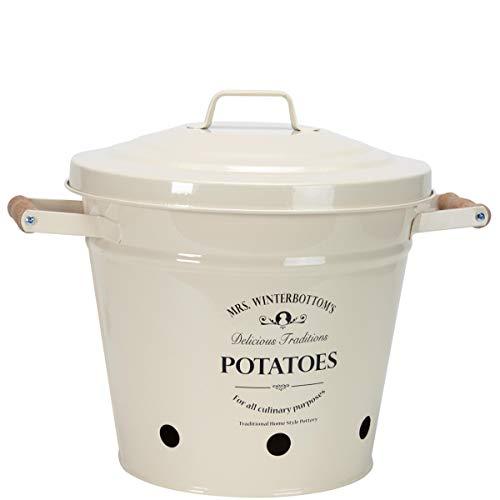 BUTLERS Mrs. Winterbottom's Kartoffeleimer - aus Zink im englischen Design - creme