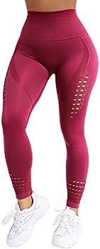 Normov High Waist Seamless Gym Leggings for Women