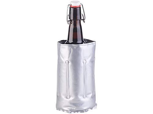 infactory Weinkühler: Flaschenkühler mit Klettverschluss für Ø 75-80 mm, Kühl- & Wärme-Gel (Bierkühler Flaschenkühler)