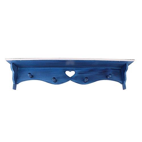 Regal Wandregalhalter Mehrzweck Mediterran Elegantes Zubehör - Blau