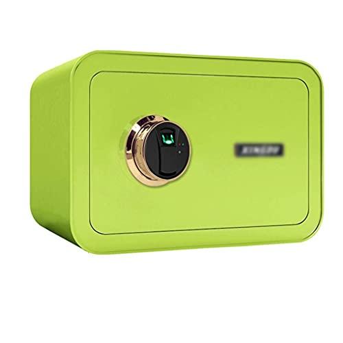 Caja fuerte de seguridad, pequeño armario de almacenamiento con sistema de alarma caja de efectivo, verde -35 x 25 x 28 cm