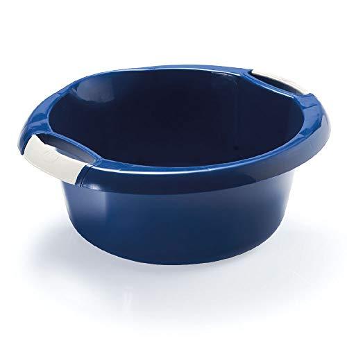 takestop® BACINELLA emmer met handgrepen washandjes vloerwisser pulizie wasmand wasverzamelaar water DETERSIVO CASALINGHI kleur willekeurig, 35/38CM 8 Litri, Tonda