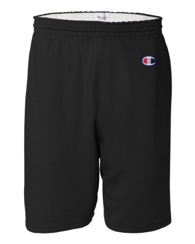 Champion Men's 6-Inch Black Cotton Jersey Shorts - Medium