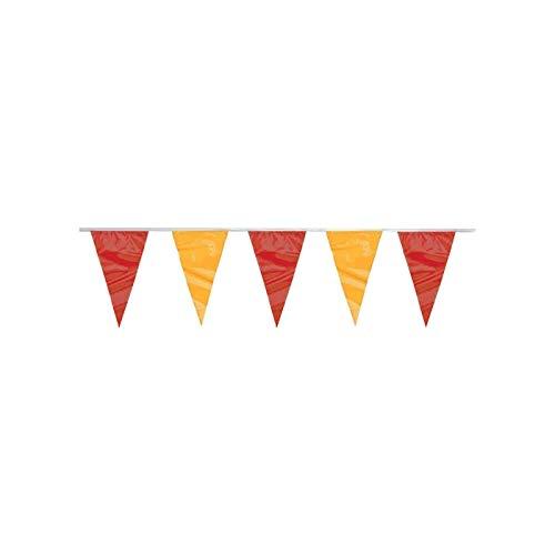 PARTY DISCOUNT Wimpelkette Spanien-Fahne dreieckig, 4 m