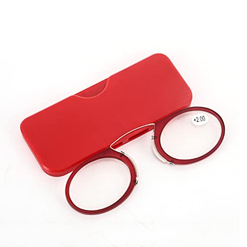 Gafas de Lectura con Pinza Nasal,Gafas de Tarjeta Ultrafinas,Lentes para Leer para Mujeres & Hombres,Lentes HD,Mini Portátiles,Reducen la Fatiga de Las Gafas,Rojo,Azul +1.50