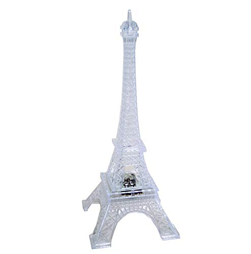 """Craft And Party 9"""" Eiffel Tower with Build in LED Light."""