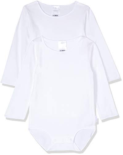 Bonds Unisex-Baby Wonderbodies Long Sleeve Bodysuit, White, 000 (0-3 Months), Pack of 2