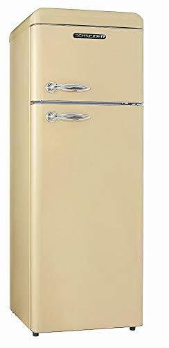 SCHNEIDER Kühlschrank Kühl Gefrierkombination creme glanz HxB:150x55cm A++
