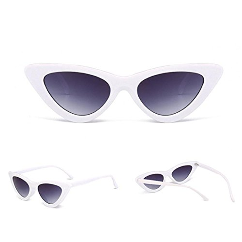 beautyjourney Occhiali da sole da donna uomo polarizzati occhiali da sole cat eye donna rotondi vintage - Donne moda occhio di gatto Shades Occhiali d