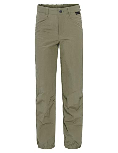 Jack Wolfskin Boys Lakeside Mosquito-proof Kid's Pants for Boys and Girls,Khaki ,140 (9-10 Years Old)