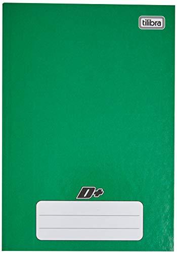 Caderno Brochura Capa Dura 1/4 Pequeno, Tilibra, D+, 116670, 14x20cm, Verde, 48 Folhas
