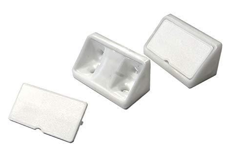 Korpusverbinder weiß 20 Stück Kunststoffwinkel universal Winkel für Möbel