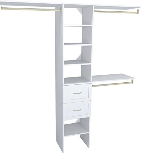 ClosetMaid SuiteSymphony Closet Organizer with Shelves and 2 Drawers, 16-Inch-Pure White
