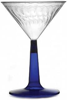 12unidades de elegante Heavy-duty de plástico reutilizables copas de Martini/Premium de plástico vasos de cóctel–azul–6oz (170ml) para bodas Catered eventos, fiestas pubs bares y restaurantes