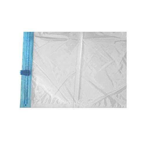 Dswe Sacchetto compresso manualmente sottovuoto Sacchetti sigillati arrotolabili Sacchetti salvaspazio da Viaggio Organizzatore di Vestiti Sacchi di imballaggio riutilizzabili