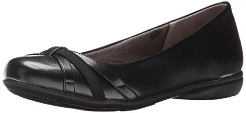 LifeStride womens Abigail Ballet Flat, Black, 7.5 Wide US