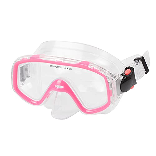 AQUA A DIVE SPORTS Kids Scuba Snorkeling Diving Mask for Scuba Dive Snorkel mask Swim Goggles Free Diving for Kids Swimming (Kids 3-9 Years-Pink)