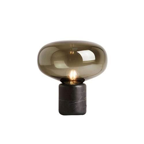 Lighfd Luz de Lujo Post-Moderno Vidrio mármol de mármol de mármol nórdico instablecimiento Estudio Estudio Estudio Creativo Noche luz Linda lámpara Decorativa (Color : Ámbar, tamaño : Small)
