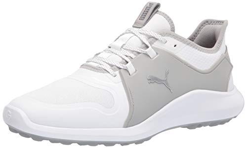 PUMA Ignite Fasten8, Zapatos de Golf Hombre, Blanco Plata Alto Rise, 44 EU