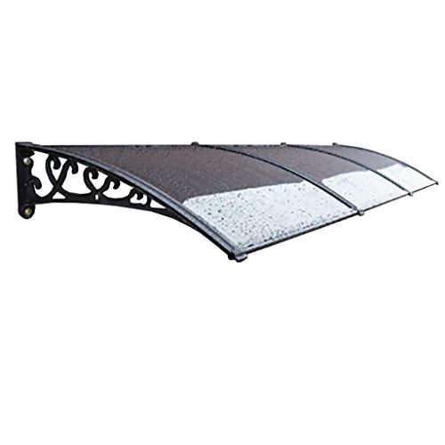 WXQIANG PC Polycarbonat Tür Canopy Markise, Außenabdeckung Tür-Fenster-Garten-Überdachung Veranda Markise Regen Shelter (Size : 60×300cm)