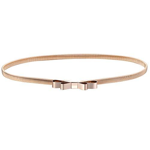 BABEYOND Damen Taillengürtel Metallic dekorativ Gürtel schmal Gürtel elastisch Taille Strap Stretchy modisch Gürtel für Kleider (Style-9-3)