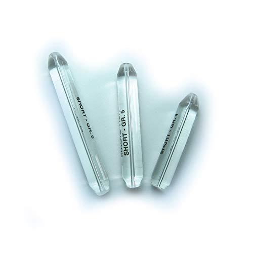 2 Forellen Glasstifte Glasblei Tremarella Angelgewicht Ghost Glas Stifte sinkend (Gewicht - 08 g)