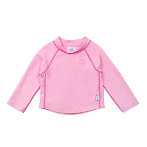 i play. Unisex Baby Long Sleeve Rashguard Shirt, Light Pink, Medium/12 Months
