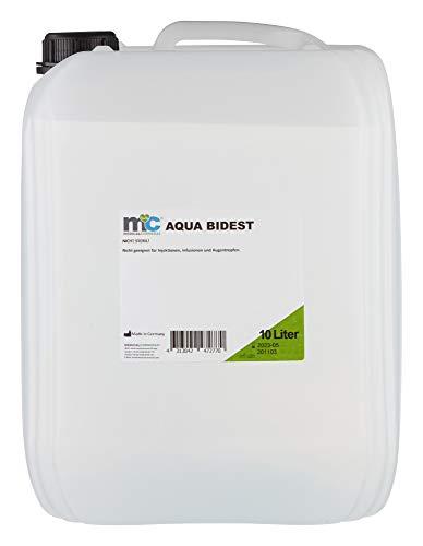 Aqua Bidest - Bidón de 10 litros de agua de laboratorio, agua pura, agua de laboratorio, agua destilada por ósmosis desmineralizada