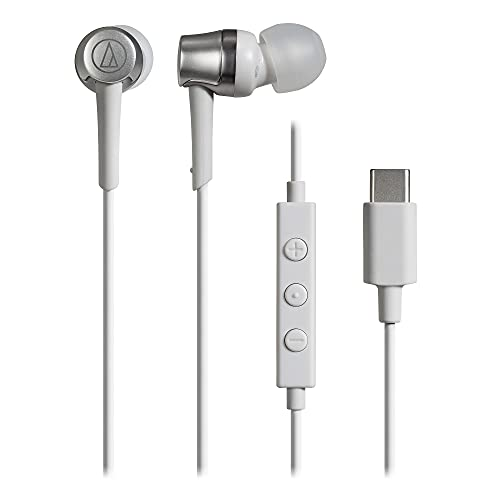 audio-technica マイク付きイヤホン USB Type-C 有線 1.2m カナル型 ホワイト ATH-CKD3C WH