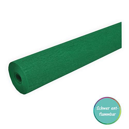 Krepppapier schwer entflammbar 50cm x 10m grün nach DIN 4102 B1 und daher in (Deutschland) zugelassen