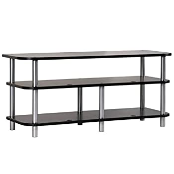 Sanus Heavy Duty Stand For AV Equipment - Extra Long 48  Design Looks Great Holding A TV In The Living Room Or Supporting Up To 400lbs Of Heavy Audio Equipment In The Back Closet